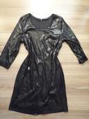 Šaty s flitrami, XL