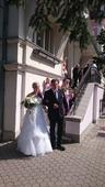 Svatební šaty s vlečkou, velikost 40-46, 44