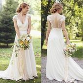 Svatební šaty boho/vintage, 37