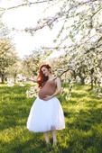 Tylová sukně bílá,