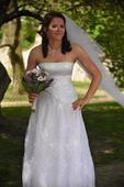 Svatební šaty vel.38-40, 40