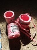 Papírová stuha-růžová ,