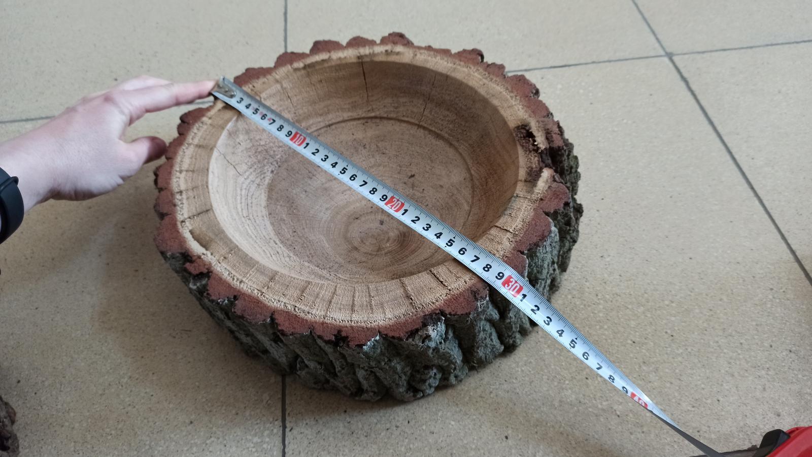 Dřevěný podnos a dřevěná mísa - Obrázek č. 1