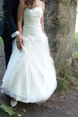 Svatební šaty - šifonové, 36