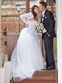 Svatební šaty - set, 36