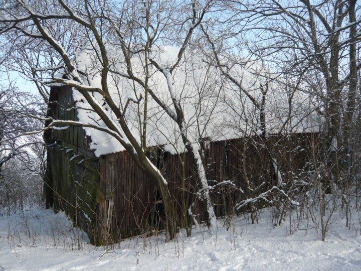 Naša cesta z mesta - Pôvodná stodola na začiatku našej cesty