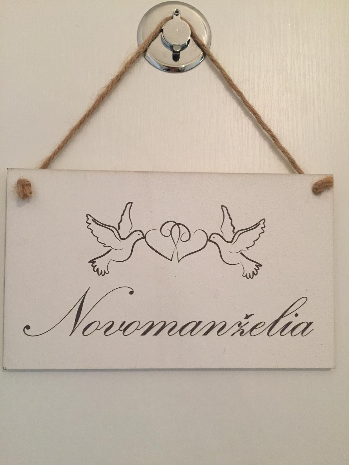 Cedulka novomanzelia - Obrázek č. 1