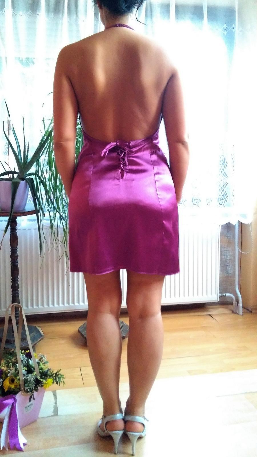 Spoločenské šaty, cyklámenové - Obrázok č. 1