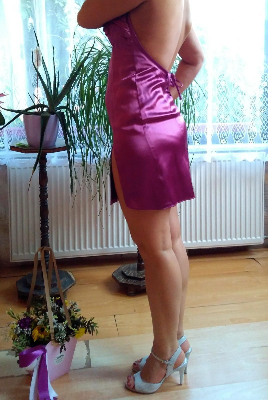 Spoločenské šaty, cyklámenové - Obrázok č. 3