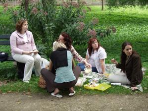 Ženská zábava na pikniku (asi milion pomazánek od Princezny, koláč od Adu,...)