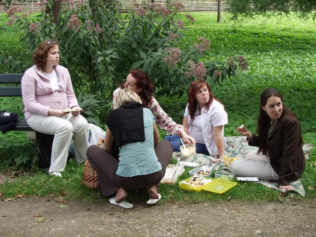 Jedinečný sraz... i zážitek - Ženská zábava na pikniku (asi milion pomazánek od Princezny, koláč od Adu,...)