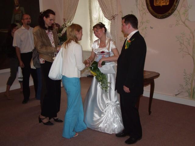 Jedinečný sraz... i zážitek - Neopakovatelné gratulace - myslím, že představování se u gratulací zažil na své svatbě málo kdo :-)))