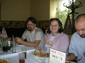 na obědě (manželé Kvídovi)