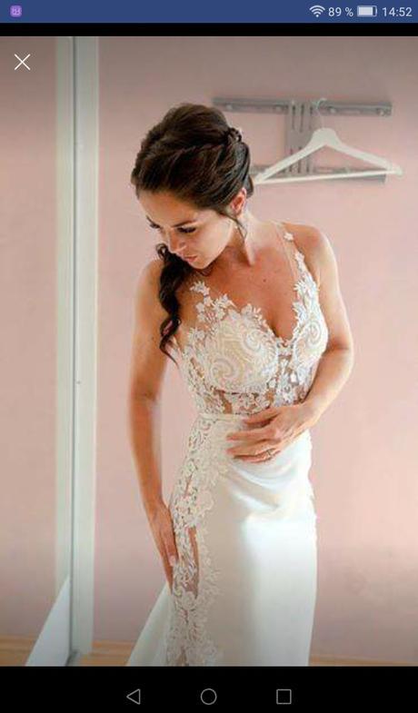 Krajkové svatební šaty vel. XS-S - Obrázek č. 2