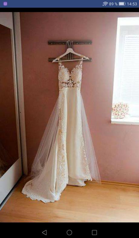 Krajkové svatební šaty vel. XS-S - Obrázek č. 3