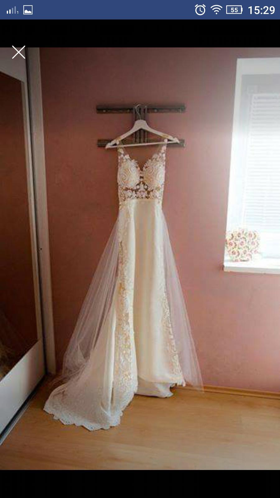 Svatební šaty vel. XS-S vel. 34 - 36 - Obrázek č. 3