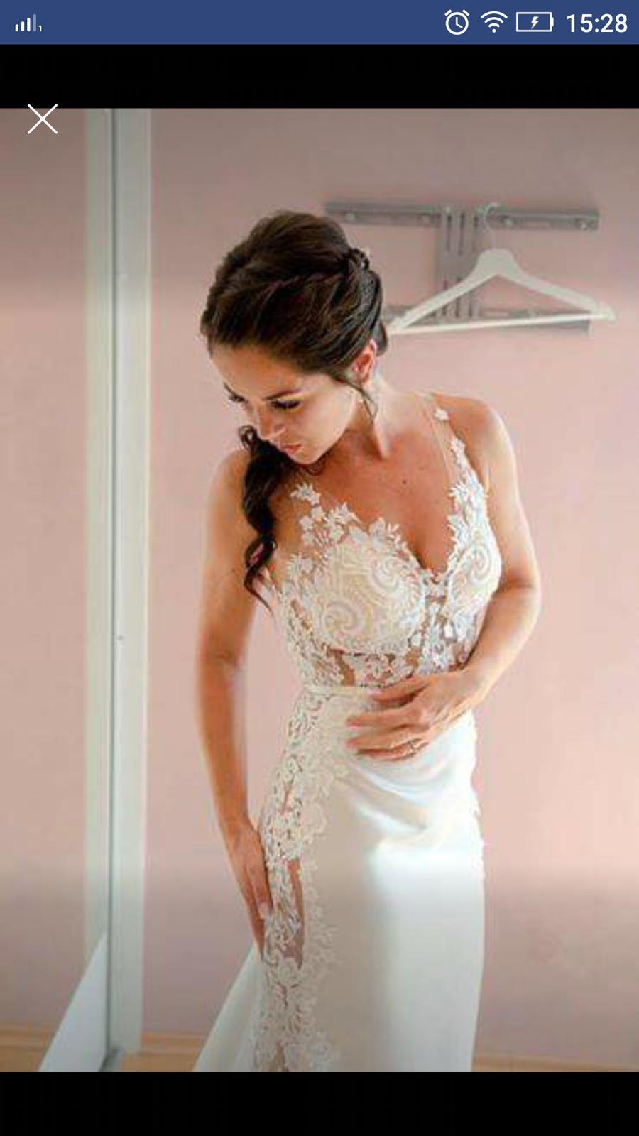 Svatební šaty vel. XS-S vel. 34 - 36 - Obrázek č. 1