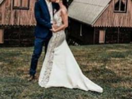 Krajkové svatební šaty vel. XS-S - Obrázek č. 4