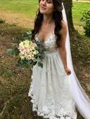 Luxusní svatební šaty šité na míru, 36