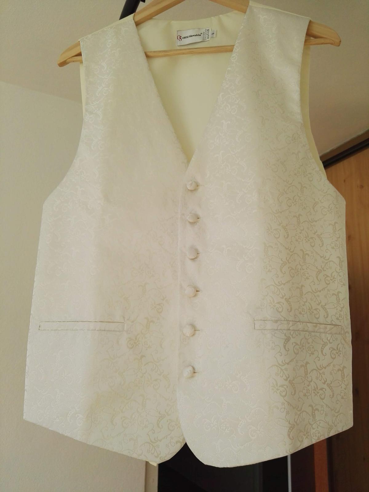 svadobná vestička, kravata, manžetové gombíky - Obrázok č. 1
