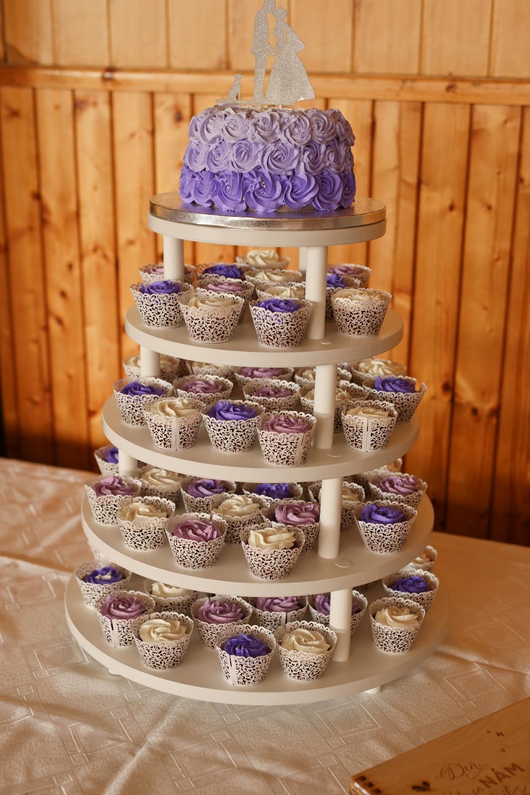 Stojan na tortu a muffiny (cupcake) - prenájom - Obrázok č. 1