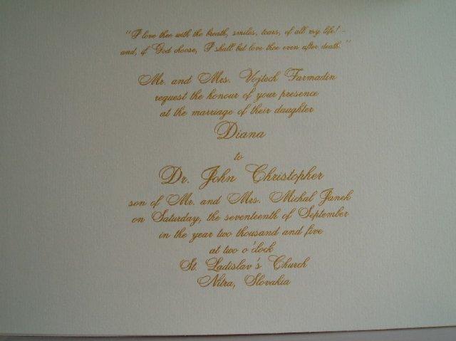 Moja svadba :o) - Oznamenie anglicke