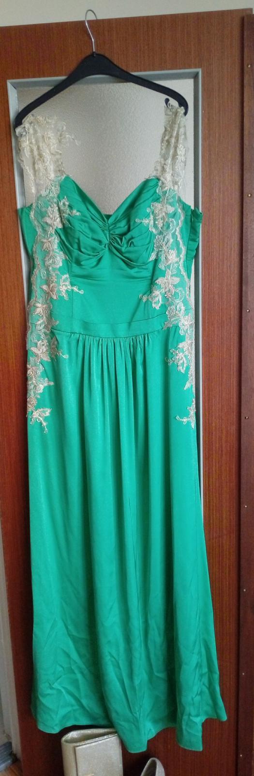 Zeleno-zlaté šaty - Obrázok č. 3