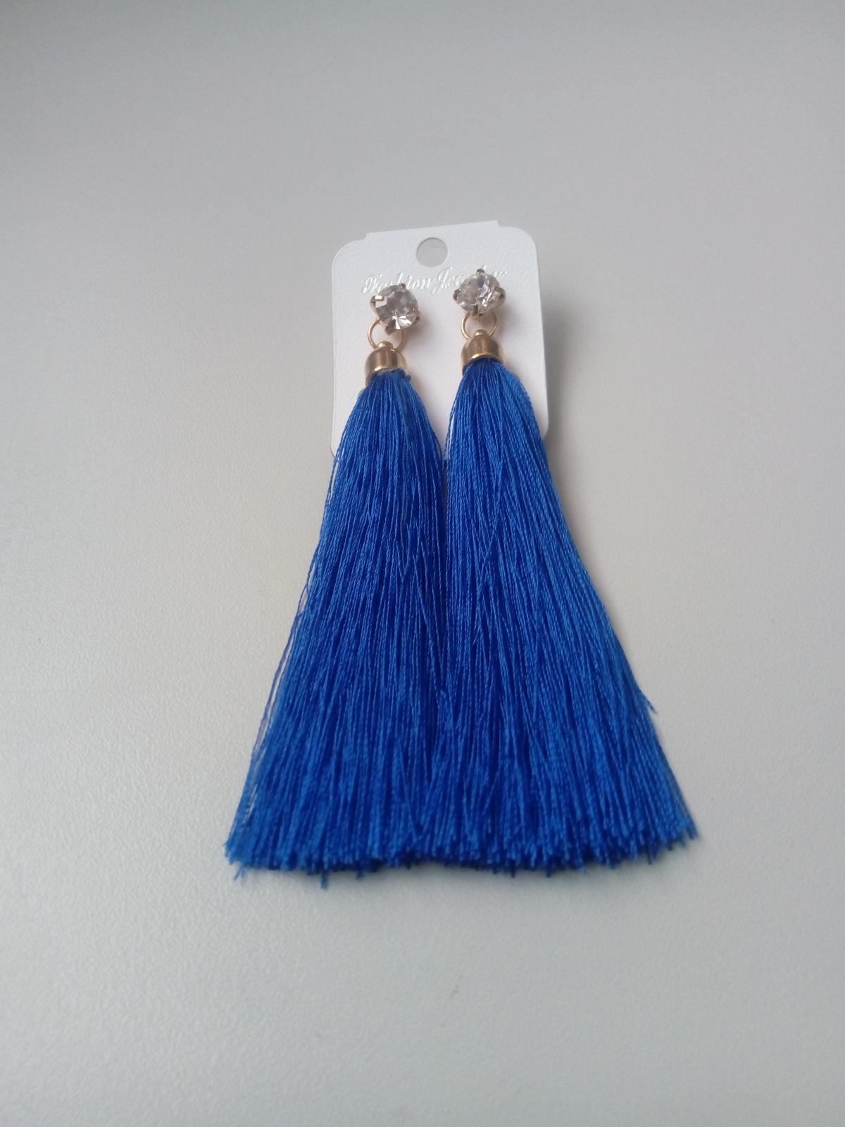 modré náušnice - Obrázok č. 1