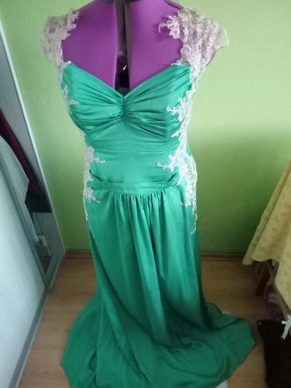 Zeleno-zlaté šaty - Obrázok č. 4