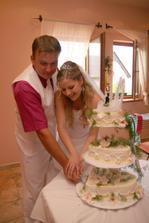 Společné krájení dortíku
