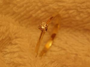 Zásnubní prstýnek, dostala jsem ho 19. srpna 2006
