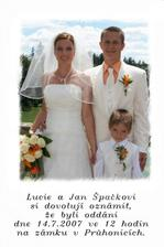 ...tak tuhle fotku jsme rozesílali po svatbě.