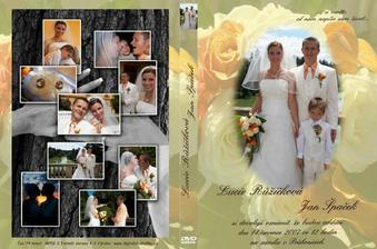 Celý obal pro naše svatební DVD
