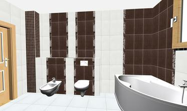 část mého návrhu koupelny