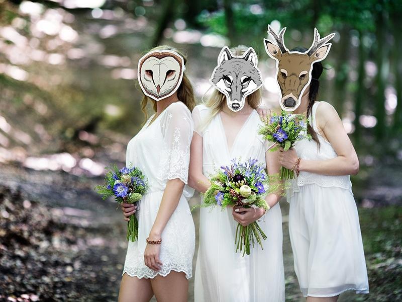 Novinka - masky na svatební focení v přírodě - Obrázek č. 1