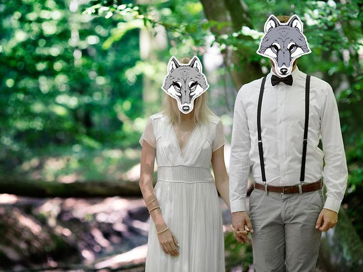 Novinka - masky na svatební focení v přírodě - Obrázek č. 31