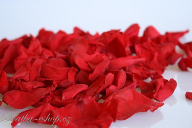 Svatba-eshop - plátky růží konzervované i textilní