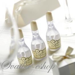 Svatební bublifuk ivory šampaňské - Obrázek č. 1