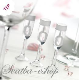 Svatební bublifuk šampuska - Obrázek č. 1