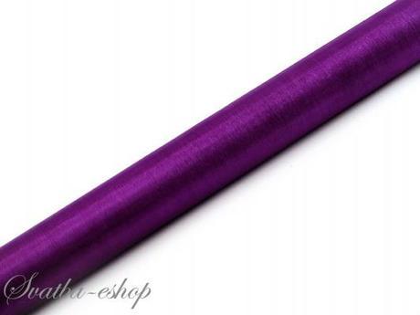 Organza 36 cm x 9 m purpurově fialová - Obrázek č. 1