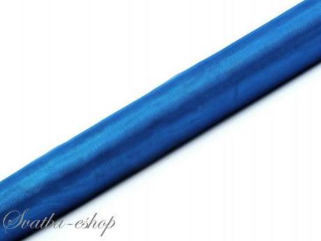 Organza 36 cm x 9 m modrá - Obrázek č. 1