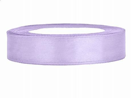 Stuha saténová 12 mm x 25 m světle fialová - Obrázek č. 1
