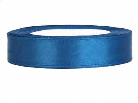 Stuha saténová 12 mm x 25 m modrá - Obrázek č. 1