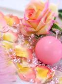 Perličky na silikonu světle růžové,