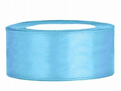 Stuha saténová 25 mm x 25 m světle modrá - Obrázek č. 1