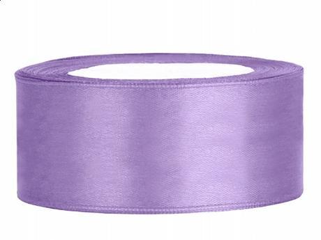 Stuha saténová 25 mm x 25 m fialová lila - Obrázek č. 1