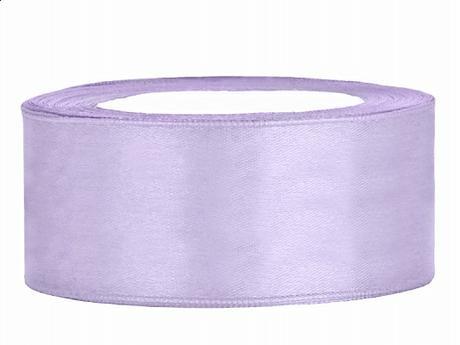 Stuha saténová 25 mm x 25 m světle fialová - Obrázek č. 1