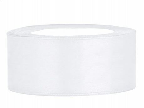 Stuha saténová 25 mm x 25 m bílá - Obrázek č. 1