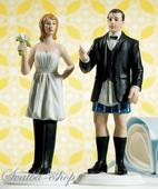 Figurka na svatební dort Nevěsta ve velení,