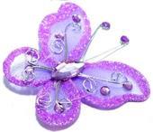 Motýlek světle fialový,